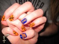 OKC Thunder Fake Nails by StuffByTaraCamille on Etsy ...