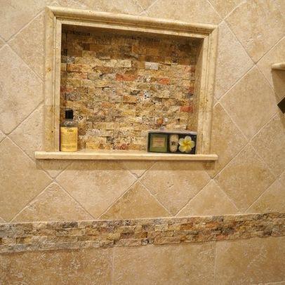 Classic Travertine Tile Shower Design Ideas Pictures