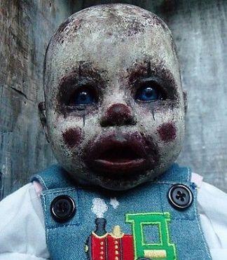 Doll-OOAK-Clown-Zombie-Baby-Horror: