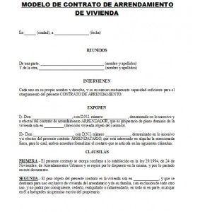 Contrato De Alquiler De Apartamento  Contrato De Renta  Contratos de alquiler  Pinterest