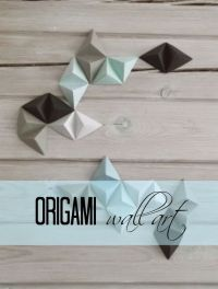 Origami wall art, Origami and Wall art on Pinterest