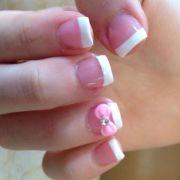 bow acrylic nails