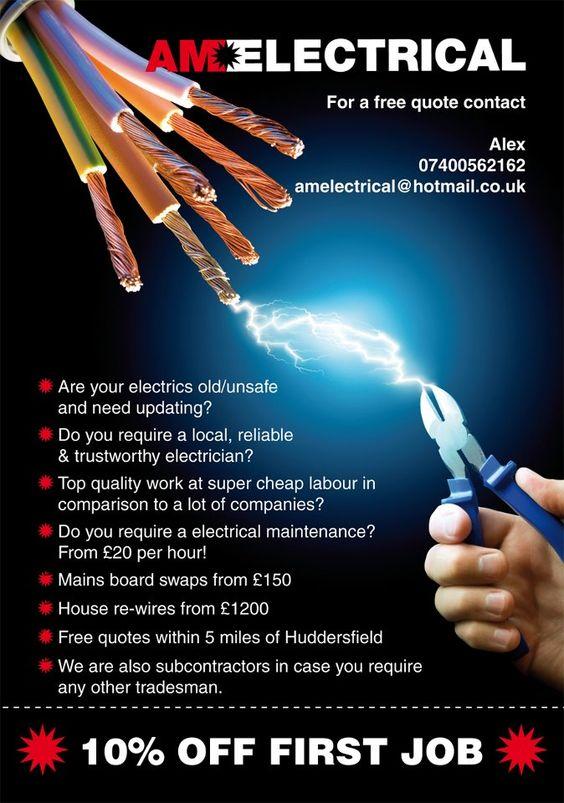 Electrician Flyer Design SHOCKING! Biz Pinterest