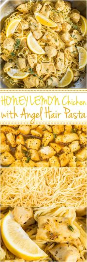 honey lemon chicken with angel