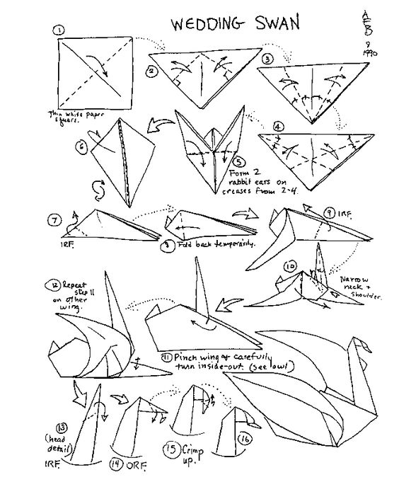 Origami birds, English and Origami on Pinterest