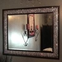 DIY - Bling out your mirror! Buy any cheap framed mirror ...