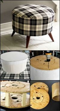 How To Build An Ottoman From Salvaged Timber Spool http ...