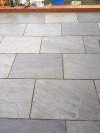 Silver Grey Indian Sandstone Paving slabs 900x600 Large ...