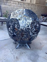3d fire pit made from cnc cut steel octagon plates welded ...