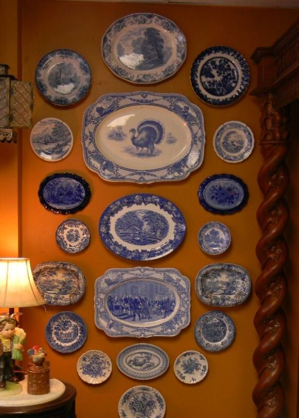 Blue and white transferware:
