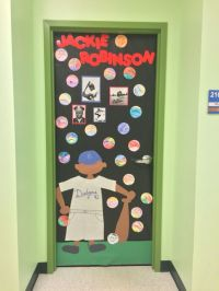 Black History Month Door Decorating - Jackie Robinson ...