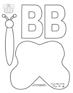 Letter b, Cut and paste and Butterflies on Pinterest