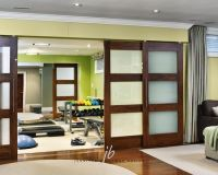Partition sliding doors in living room. | Home Renovation ...
