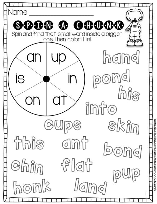 Printable for using the chunky monkey (chunking) decoding