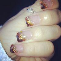 Autumn nail acrylic nail design, thanksgiving nails ...
