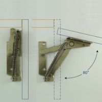 Details about cabinet swing up door lift up flap top ...