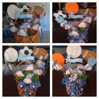 Sports theme babyshower... Centerpiece | Party ideas ...