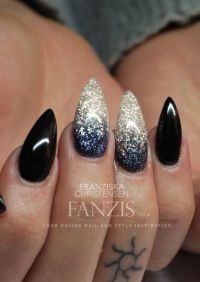 Black grey white blue nails design | All Things Nails ...