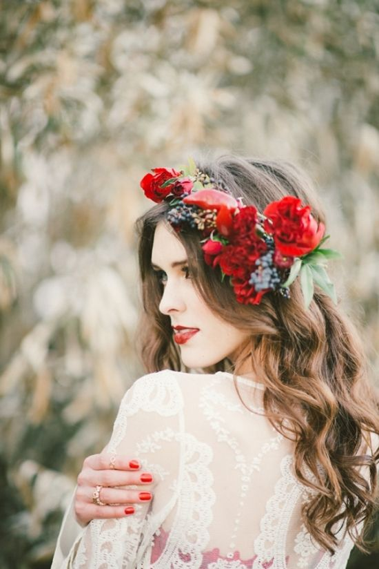 Red Flower Crown: