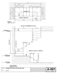 Drawing Fire Escape Stair Dimensions Visit deck railing ...