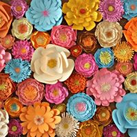 Spring is the perfect time to make this 3d paper flowers