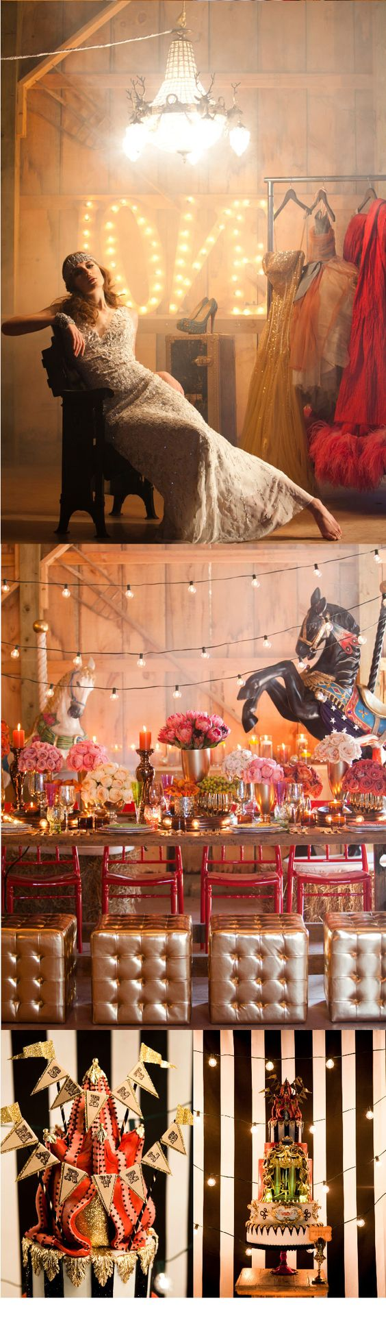 Circus Themed Wedding Inspiration: