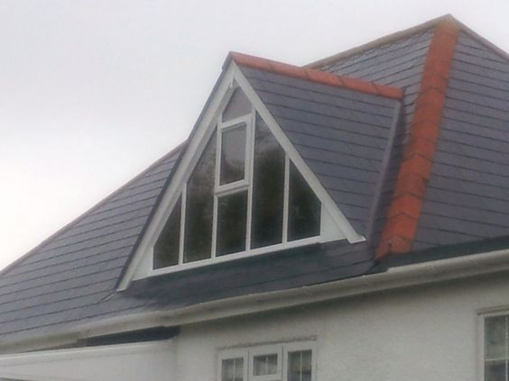 Glass gable ended dormer window, for room with high