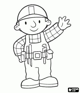 Coloring, Coloring pages and Construction worker on Pinterest