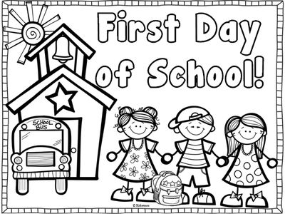 Back to School Coloring Page~ Freebie from Creative Lesson