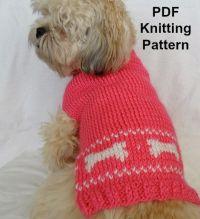 Cute dog sweater knitting pattern - PDF, small dog sweater ...