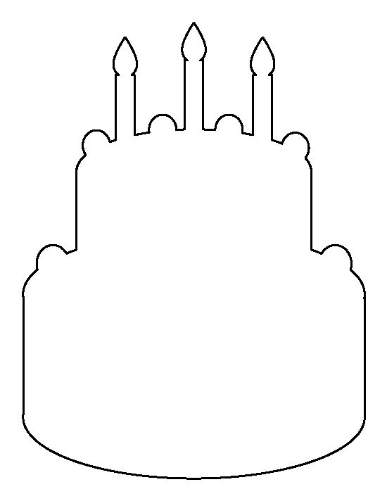 Birthday cake pattern. Use the printable outline for