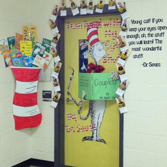 Read Across America week door decoration contest. Dr. #