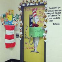 Read Across America week door decoration contest. Dr. #