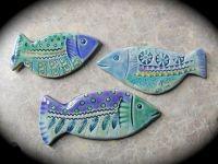 Little School of Ceramic Fish wall tiles