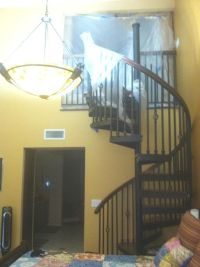 """spiral staircase leading to """"loft closet"""" above the master ..."""