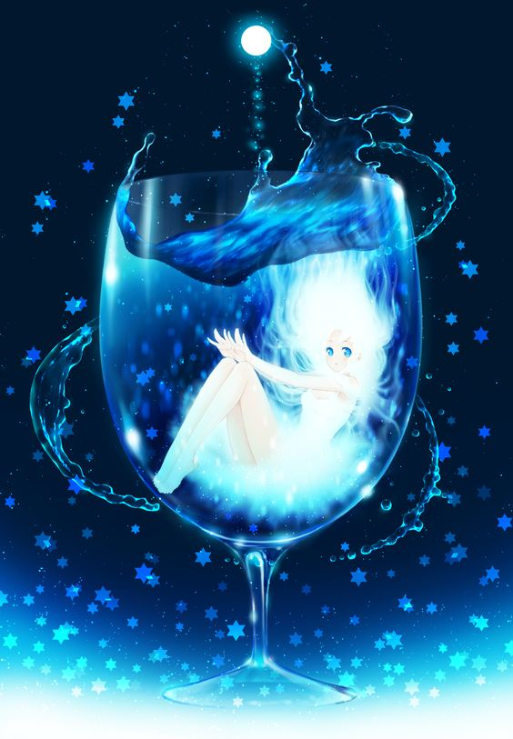 anime girl in glass of water Pretty anime style pics
