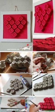 Resultado de imagen para manualidades san valentin con carton de huevos