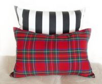 Red Tartan Plaid Throw Pillows for Christmas by ...
