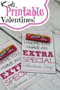 Be sure to check out these Kids Printable Valentines Using Extra Gum! These are so cute and fun for your kids to pass out at their School Valentines Party!: