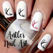 deer antler nail art decals girls