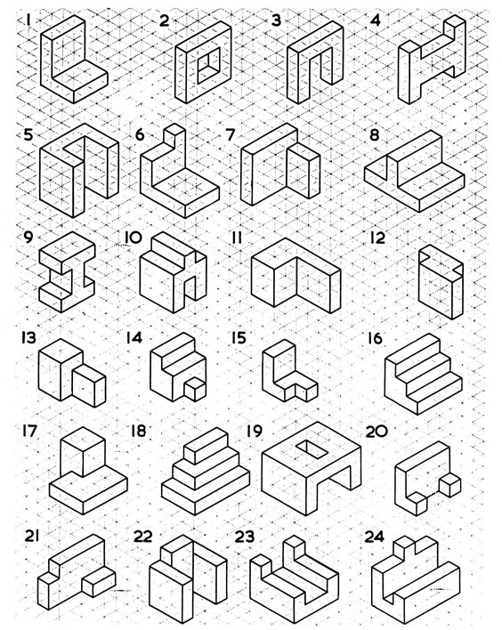 Isometric Drawing Examples: Got 5 minutes to spare in