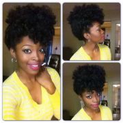 updo natural hair protective style