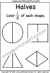 Fractions, Coloring and Worksheets on Pinterest