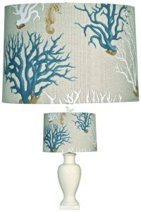 Blue Coral Lampshade: http://www.completely-coastal.com ...