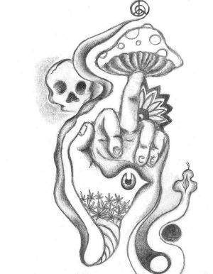 drawings easy grunge drawing simple mushrooms google cool draw trippy pages hippie coloring tattoo mushroom tattoos
