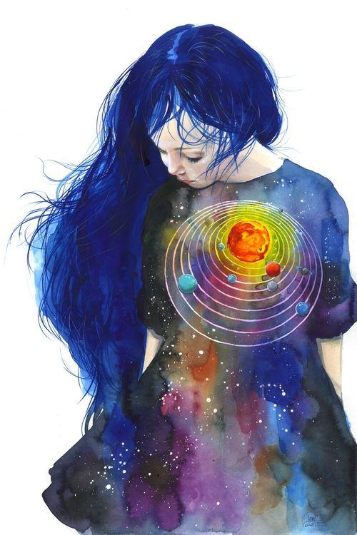 Lora Zombie Amazing Space Print