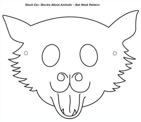 Cute Wolf Mask Template