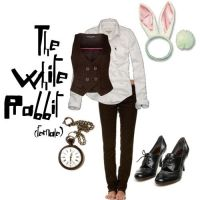 The White Rabbit Costume Girl