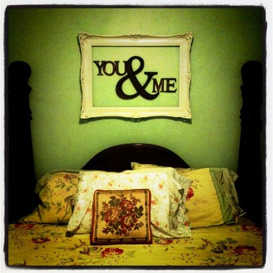 Bedroom Decor DIY -husband and wife? Hate the bedding but ...
