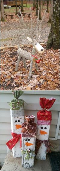 These wooden DIY outdoor winter and Christmas decorations ...